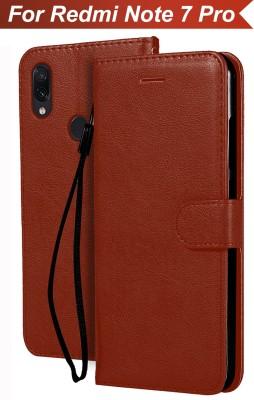 Flipkart SmartBuy Flip Cover for Mi Redmi Note 7, Mi Redmi Note 7 Pro(Brown)