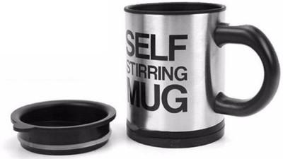 SKYFISH Auto mixing self stirring Coffee - 400 ML Stainless Steel Mug 10 Cups Coffee Maker(Multicolor, Black)
