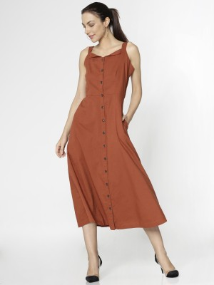 Only Women's A-line Brown Dress