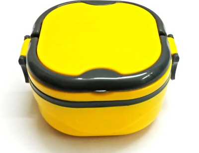 Gift Collection Hot Tiffin Box With Steel Container And 1 Seperator.Handle For Easy Carry & Side Lock 1 Containers Lunch Box(400 ml)