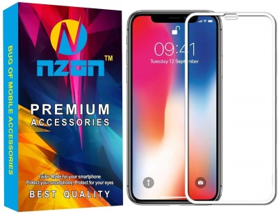 nzon Edge To Edge Tempered Glass for iPhone XS Max 2.5D Original Full Coverage Curved Scratch Proof Bubble Free 0.3mm Tempered Glass for iPhone XS Max Screen Protectors(Pack of 2)