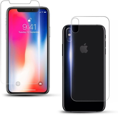 Case Creation Front and Back Screen Guard for Apple Iphone XS Max (2018)(Pack of 2)