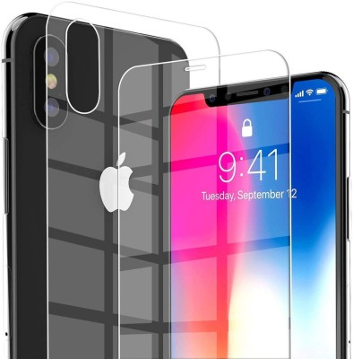 Case Creation Front and Back Screen Guard for Apple iPhone XS Max(Pack of 2)