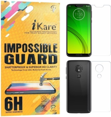 iKare Front and Back Screen Guard for Motorola Moto G7 Power(Pack of 2)