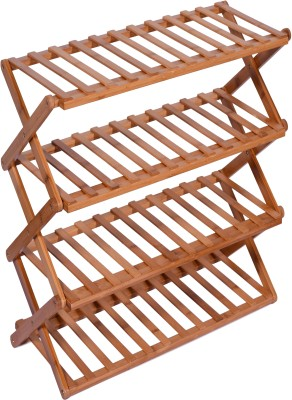 Haneez Solid Wood Shoe Rack(4 Shelves)