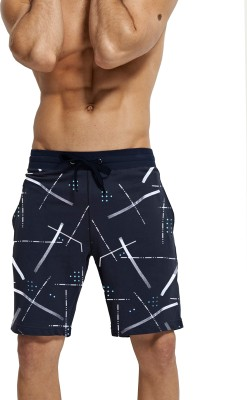Tripr Printed Men Blue Regular Shorts