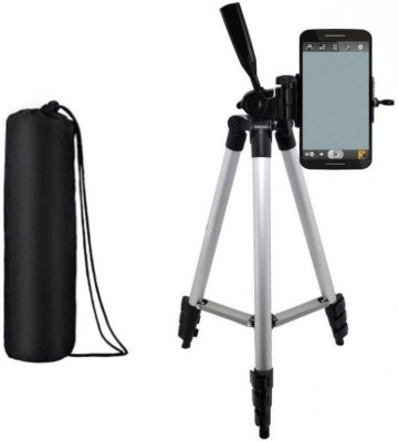 WDS ®Digital Camera 3110 -Stand Lightweight Tripod Compatible With All Smartphones Tripod Kit  (Multicolor, Supports Up to 3000) Tripod(Black, Silver, Supports Up to 1500 g) 1
