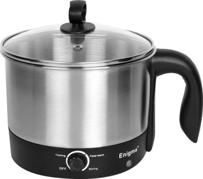 Enigma Premium Quality Multifunction Electric Kettle(1.2 L, Silver)