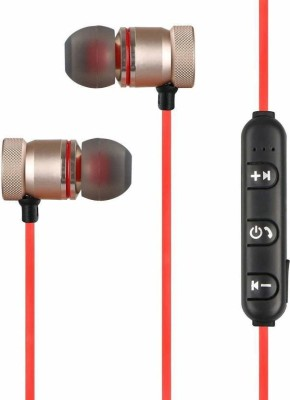 Microbirdss Magnet 3 Bluetooth Headset with Mic(Red, In the Ear)
