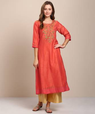 Anmi Women's Embroidered A-line Kurta