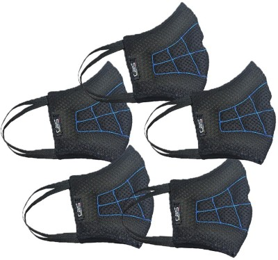 Gills Toby Cool Mask Toby Medium /standard Adult Cool Black Pack of 5 Mask and Respirator