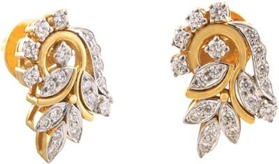 Bliss Diamonds 020 Yellow Gold 18kt Diamond Stud Earring