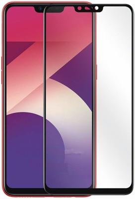 SAGA Edge To Edge Tempered Glass for Temperd Glass 6d - Premium Full Glue OPPO A3S Temperd Glass Full Edge - Edge Screen Protection For OPPO A3S-Black (pack of 1)(Pack of 1)