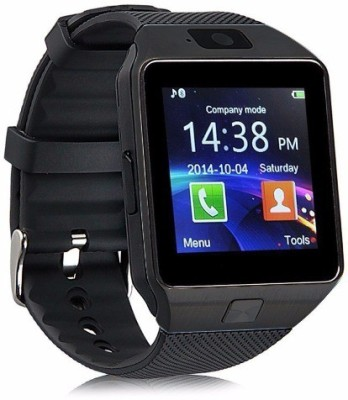 Enew DZ09-BLACK FC007-1SMW phone Black Smartwatch(Black Strap Free Size)