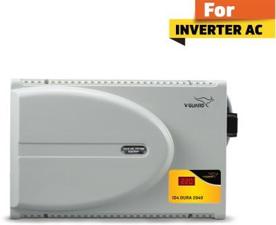 V-Guard iD4 Dura 2040 with Digital Display for 1.5 Ton Inverter A.C (Working range: 160 V To 280 V) Voltage Stabilizer(Grey)