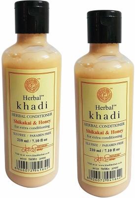 Herbal Khadi SHIKAKAI & HONEY CONDITIONER-SLS,PARABEN FREE(210 ml)