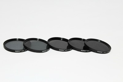 SHOPEE 5PCS Filter 55MM ND2 ND4 ND8 ND16 ND24 NEUTRAL DENSITY ND Lens Filter KIT ND Filter 55 mm