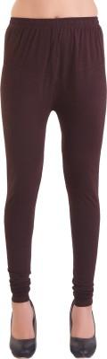 Ziva Fashion Churidar  Legging(Maroon, Solid)