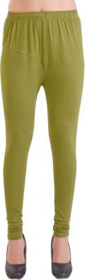 Ziva Fashion Churidar  Legging(Dark Green, Solid)