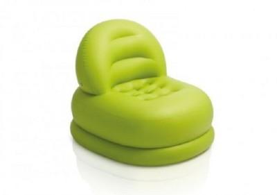 Intex PVC 1 Seater Inflatable Sofa(Color - Green)