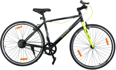 Atlas Ultimate City Karbon Bike For Adults Black & Green 700C T Hybrid Cycle/City Bike(Single Speed, Multicolor)