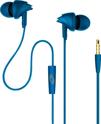 boAt Bassheads 100 MI Edition Wired Headset with Mic(Blue, In the Ear)