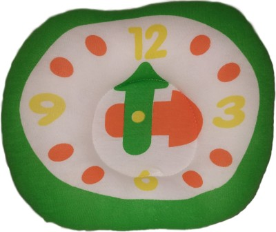 MOM & SON Clock Shape Baby head shaping pillow Baby Pillow Pack of 1(Green)