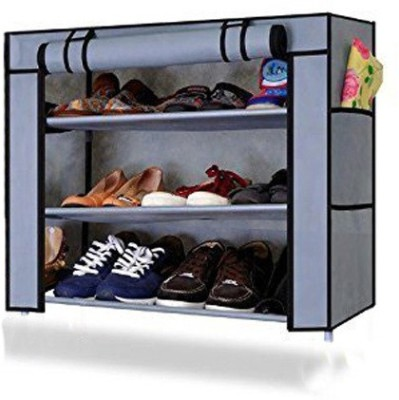 Ebee Metal Collapsible Shoe Stand(Maroon, 5 Shelves)