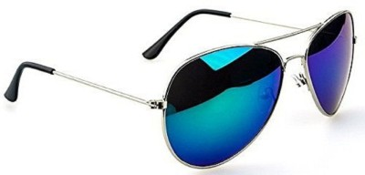 hipe Aviator Sunglasses(Blue)
