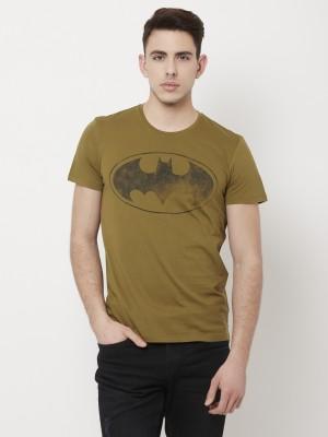 Batman By Free Authority Graphic Print Men Round Neck Green T-Shirt