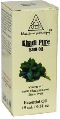 Khadi Pure Herbal Basil Essential Oil - 15ml(15 ml)