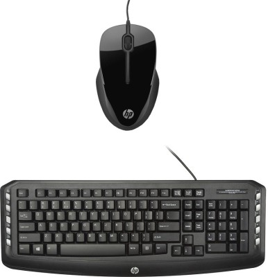 HP Multimedia Wired Keyboard  English  C2600 Black Wired Mouse HPX1500_ Black Combo Set