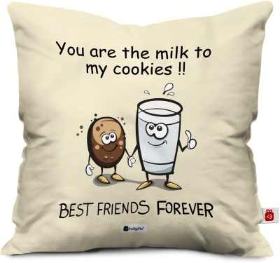 Indigifts Text Print Cushions Cover(30 cm*30 cm, Grey)