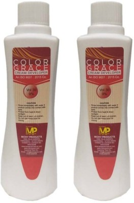 COLORGRACE HAIR COLOR CREAM DEVELOPER VOL 30 9% PACK OF 2 Hair Color (FOR ALL COLOR) Hair Color(for all color use)