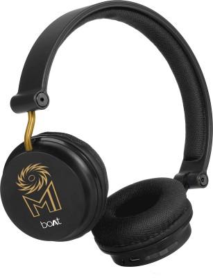 boAt Rockerz 400 Mumbai Indians Edition Bluetooth Headset(Black, On the Ear)