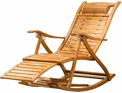 Urbancart Relax Bamboo Rocking Chair for Home Living Room and Outdoor Lounge with Easy Assembly Bamboo 1 Seater Rocking Chairs(Finish Color - BROWN)