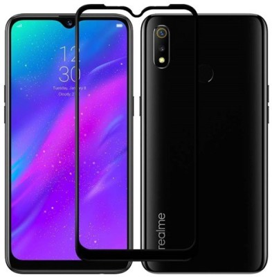 Ridhaniyaa Edge To Edge Tempered Glass for Realme 3, Vivo Y93(Pack of 1)