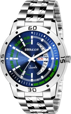 Embassy Day And Date Shaded Analog Watch  - For Men