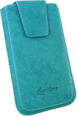 Emartbuy Pouch for Micromax Canvas 2 Plus A110Q(Blue Classic)