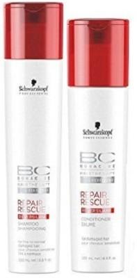 Schwarzkopf Hairtherapy Repair Rescue Reversilane Shampoo (250ml) & Conditioner (200ml) Combo(Set of 2)