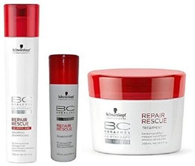 Schwarzkopf BC Repair Rescue Reversilane Pack of 3 (Shampoo +Conditioner +Mask)(Set of 3)