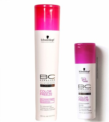 Schwarzkopf BC Color Freeze Sulfate Free Hair Care Set of 2 (Shampoo+Conditioner)(Set of 2)