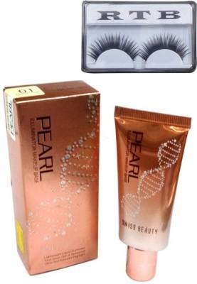 RTB Pearl Illuminator Makeup Base SB501 with false eyelash(Set of 2)