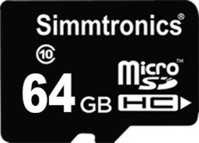 SIMMTRONICS SDHC 64  GB MicroSD Card Class 10 95 MB/s Memory Card SIMMTRONICS Memory Cards