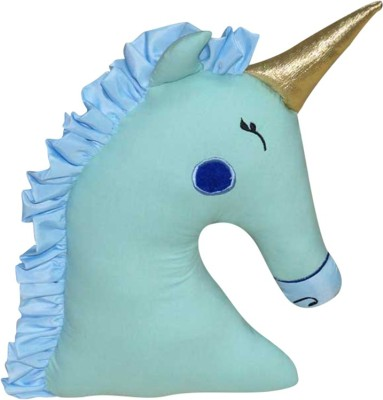 Oscar Home Unicorn Shaped gold headed Baby Pillow Pack of 1(Green)