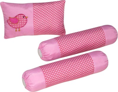 Oscar Home Bird Dotted Baby Pillow Pack of 3(Pink)