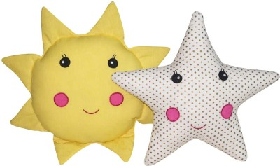 Oscar Home Star Sunflower Baby Pillow Pack of 2(Yellow, White)