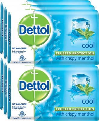 Dettol Germ Protection Bathing Bar Soap, Cool - 125g(6 x 125 g)