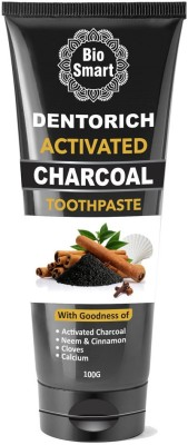 Bio Smart Dentorich - Activated Charcoal Toothpaste for Natural Teeth Whitening Toothpaste(100 g)