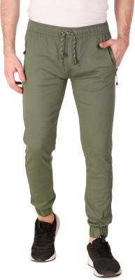 Plus91 Slim Fit Men Green Trousers